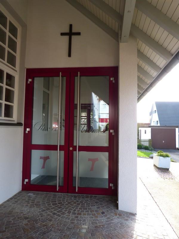 Kirchentüre St. Franziskus Pliezhausen